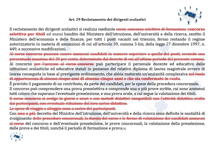 PSN Nuovo art. 29 Concorso DS