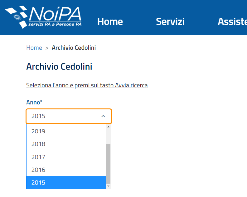 Archivio Cedolini